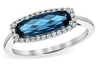 F235-96350: LDS RG 1.79 LONDON BLUE TOPAZ 1.90 TGW