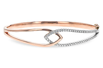G235-08168: BANGLE BRACELET .50 TW (ROSE & WG)