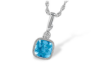 M232-34495: NECK 1.03 BLUE TOPAZ 1.05 TGW